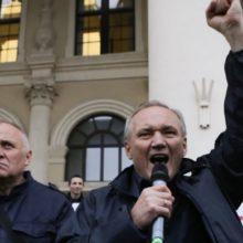 «Гулялі з агнём». Някляеў і Статкевіч удзельнічалі ў шэсьці літоўскіх нацыяналістаў у Вільні